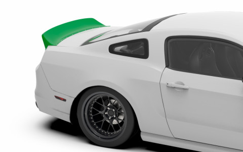 Clinched Ford Mustang S197 Ducktail Trunk Spoiler