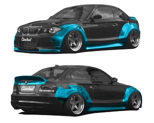 Clinched BMW E82 Widebody Kit Without Ducktail