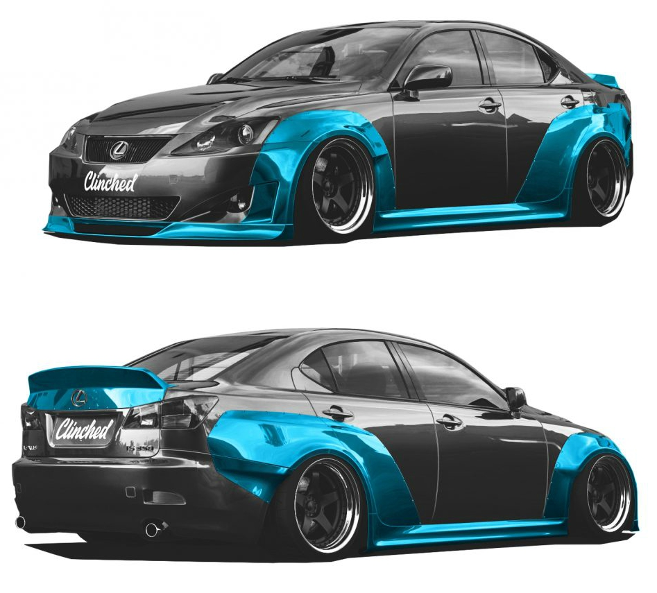 Clinched Lexus IS250 IS350 Full Widebody Kit