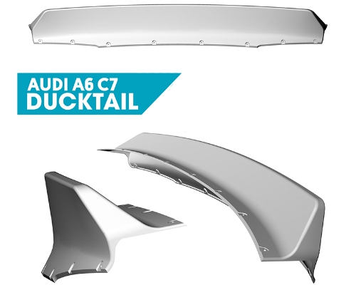 Clinched Audi A6 C7 Ducktail Spoiler
