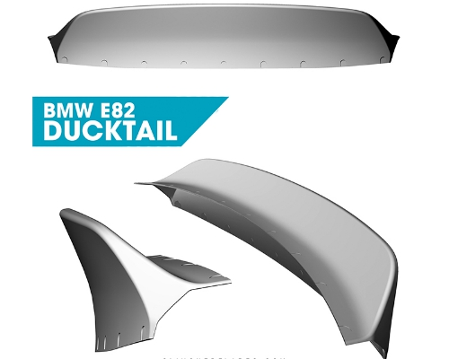 Clinched BMW 1-Series E82 Ducktail Spoiler
