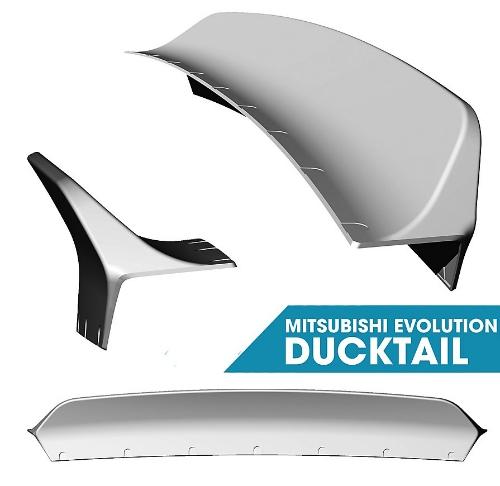 Clinched Mitsubishi Evo 7/8/9 Ducktail Spoiler