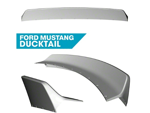 Clinched Ford Mustang S550 Ducktail Spoiler