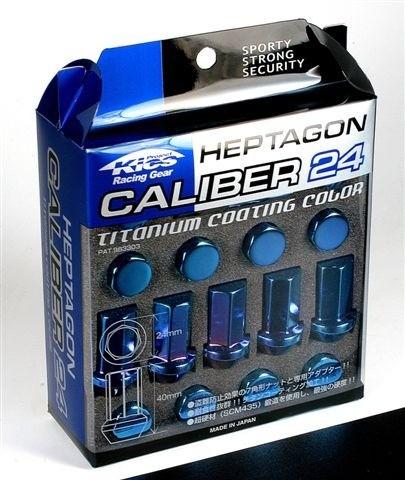 Project Kics Titanium Blue Caliber Lug Nut