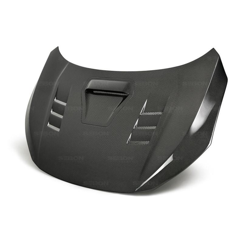 Seibon Carbon Fiber Hood   17-20 Honda Civic Type R (4DR&5DR)