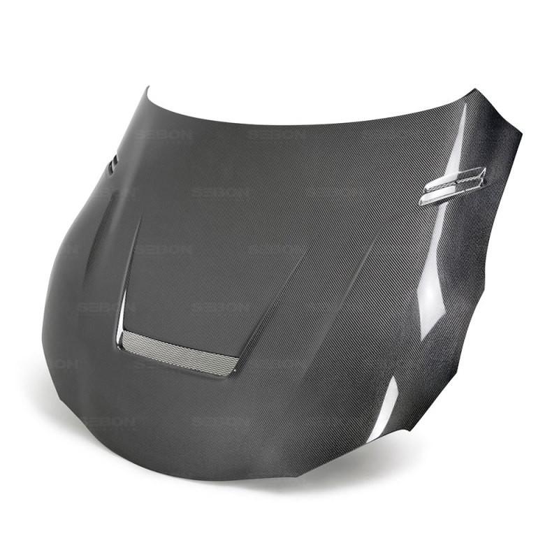 Seibon Double Sided Carbon Fiber Hood 20-21 Toyota GR Supra Coupe