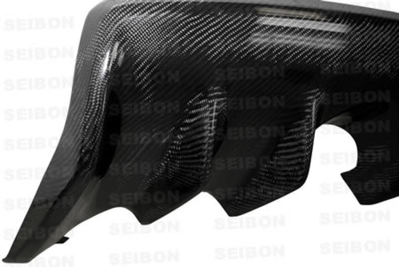Seibon Carbon Fiber Rear Diffuser 08-15 Mitsubishi Lancer Evo X Sedan
