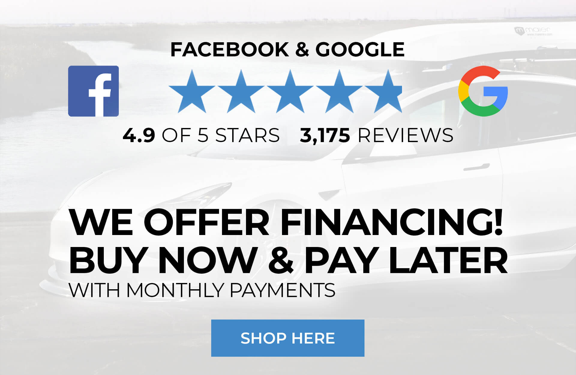 We offer financing! Buy now & pay later with monthly payments. 4.8 of 5 star reviews!