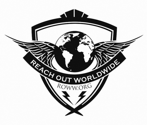 reach out worldwide logo black with white background