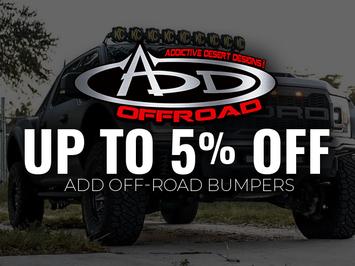 5% Off ADD Offroad Bumpers