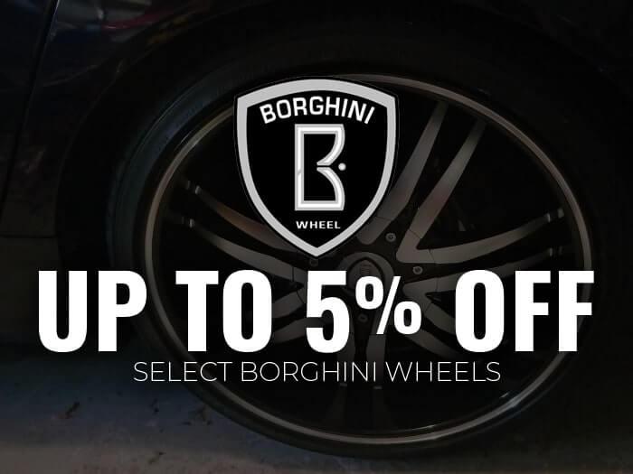 5% Off Borghini Wheels