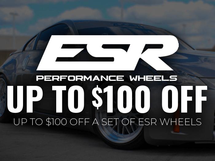 $100 Off ESR Wheels