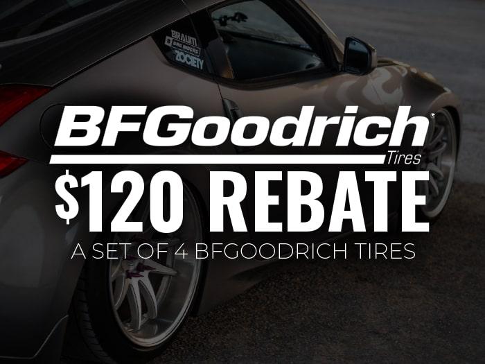 $120 Off BF Goodrich Tires