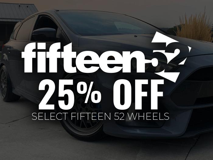 25% Off Fifteen52 Wheels