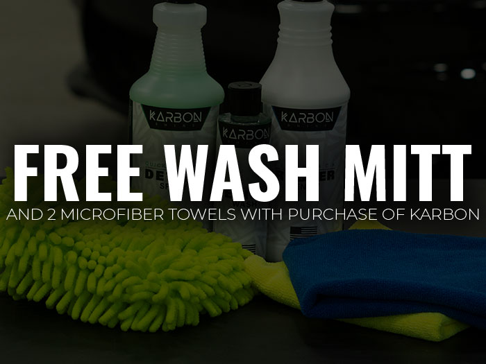 Free Wash Mitt and 2 Free Microfibers
