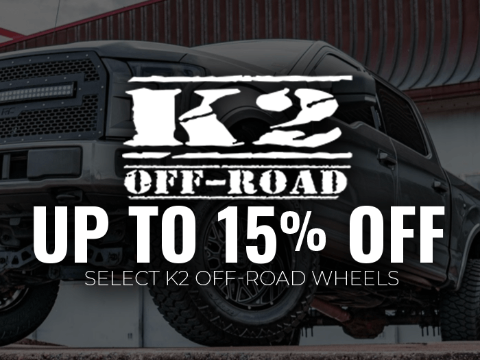 15% OFF K2 Offroad Wheels