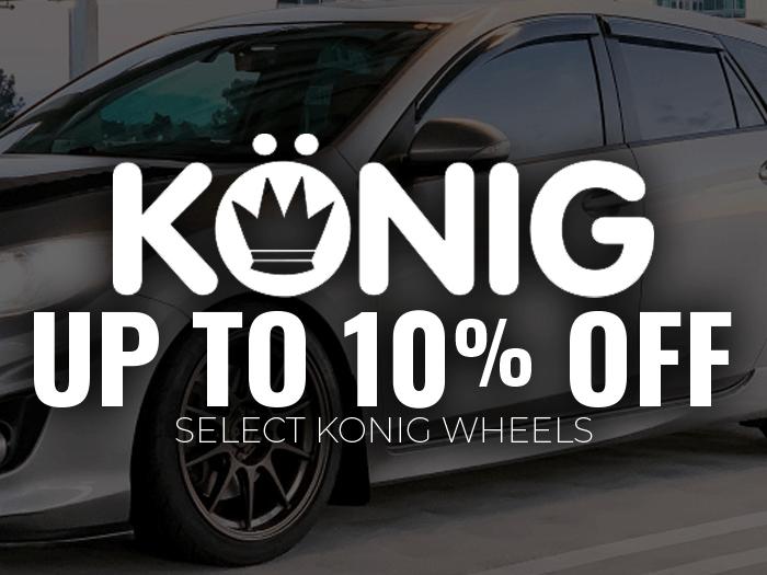 10% OFF Konig Wheels