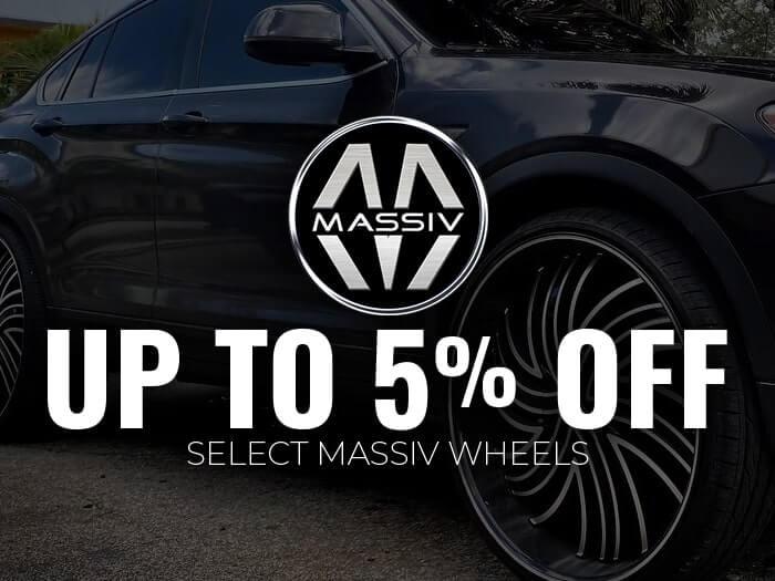 5% Off Massiv Wheels