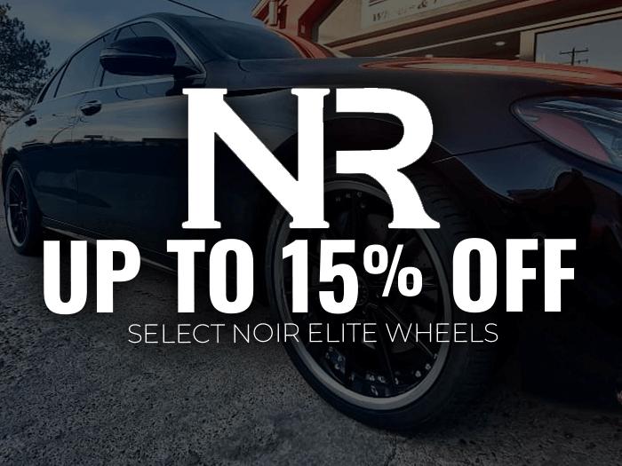 15% Off Noir Elite Wheels