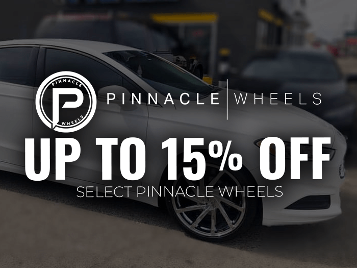 15% off Pinnacle Wheels