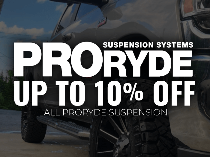 10% Off ProRyde Leveling Kits!