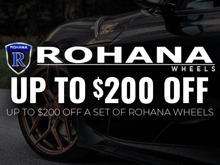 Up to $200 Off Rohana Wheels