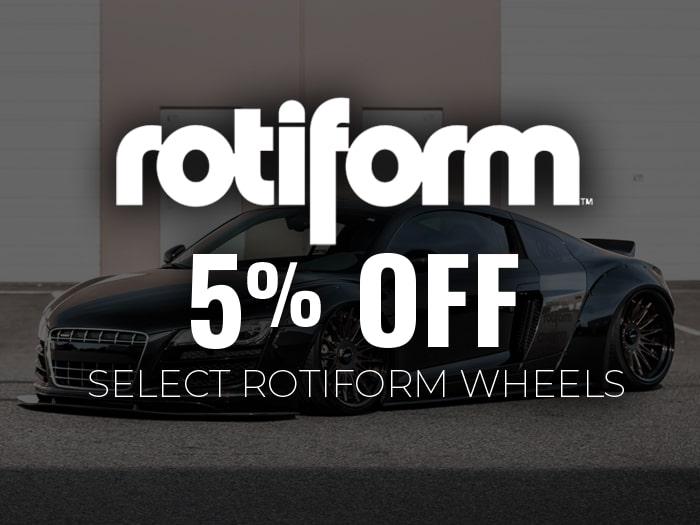 5% Off Rotiform Wheels