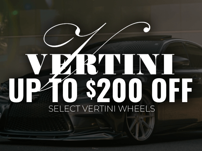 $200 Off Vertini Wheels