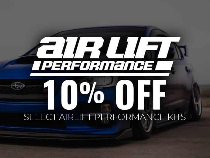 10% Off Air Lift Performance Suspension
