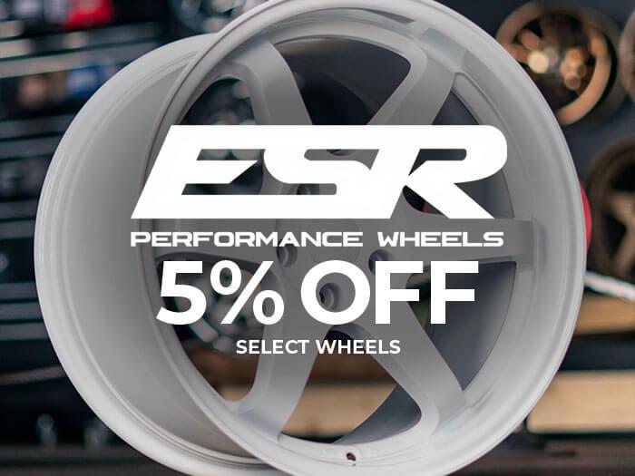 ESR Wheels 5% Off