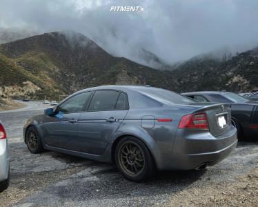 2005 Acura TL - 17x8 45mm - Konig Hypergram - Lowering Springs - 235/45R17