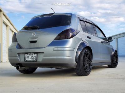 2009 Nissan Versa - 18x8.5 35mm - Regen5 R35 - Coilovers - 205/40R18