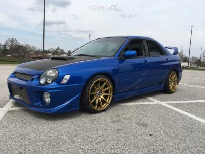 2003 Subaru WRX - 18x8.75 35mm - XXR 527 - Lowering Springs - 225/35R18