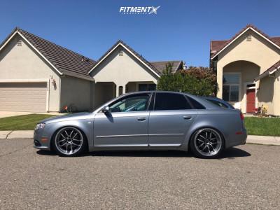 2006 Audi A4 - 19x8.5 35mm - Enkei Pf01 - Coilovers - 235/35R19