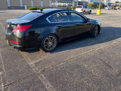 2010 Acura TL - 18x8 40mm - Touren TF03 - Coilovers - 245/45R18