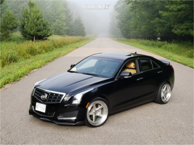 2013 Cadillac ATS - 19x9.5 15mm - Aodhan Ds05 - Lowering Springs - 235/40R19