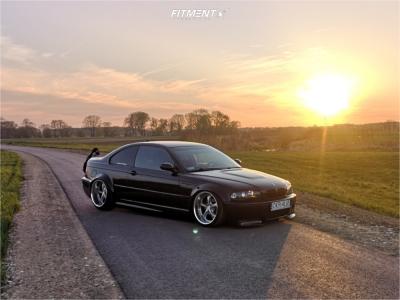 2000 BMW 328Ci - 18x11.5 -8mm - Work VS KF - Air Suspension - 215/30R18