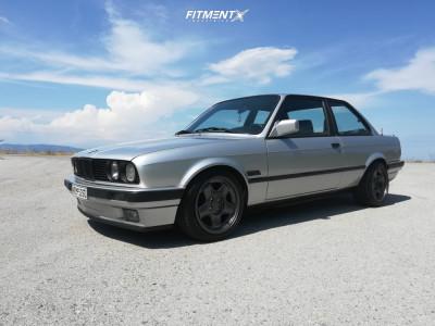 1991 BMW 318is - 16x7.5 15mm - Schmidt Revolution Modern-Line - Lowering Springs - 195/45R16