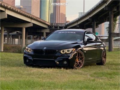 2014 BMW 435i - 19x8.5 33mm - Rohana Rfx11 - Lowering Springs - 255/35R19