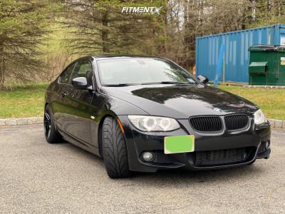 2012 BMW 335i xDrive - 18x9.5 22mm - Verde Reflex - Lowering Springs - 245/40R18