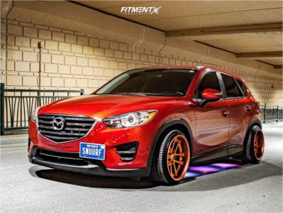 2016 Mazda CX-5 - 19x10.5 20mm - Weds Kranze Lxz - Coilovers - 225/35R19