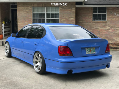 2002 Lexus GS300 - 19x9.5 15mm - Square G8 - Coilovers - 225/35R19