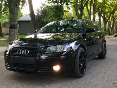 2006 Audi A3 - 18x8 35mm - Aodhan Ls008 - Stock Suspension - 235/40R18