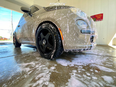 2012 Fiat 500 - 17x7.5 35mm - Fifteen52 Chicane - Coilovers - 215/45R17