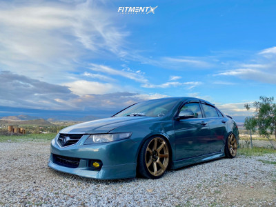2004 Acura TSX - 18x9 25mm - Cosmis Racing Mr7 - Coilovers - 215/35R18
