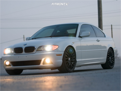 2006 BMW 325Ci - 19x8.5 30mm - Advanti Racing Fastoso - Lowering Springs - 235/30R19
