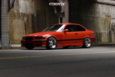 1999 BMW 328is - 18x9.5 22mm - ESR SR04 - Coilovers - 225/40R18