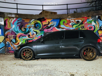 2015 Volkswagen GTI - 18x8.5 45mm - Option Lab R716 - Coilovers - 245/45R18