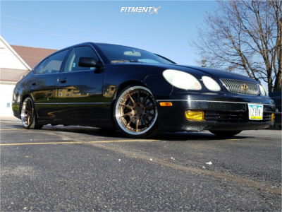 2004 Lexus GS300 - 18x9.5 30mm - Aodhan Ds07 - Coilovers - 235/30R18