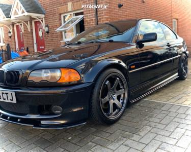 2001 BMW 3 Series - 18x8.5 35mm - Bola B1 - Lowering Springs - 255/35R18